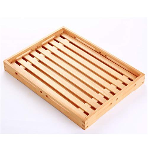 SLONGK Holz Serviertablett Natürliche Farbe Holz Kuchenplatte Brot Board Backen Laden Display Platte Kaffee Teetassen
