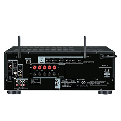 Pioneer VSX-831-B 5.2 Netzwerk-Mehrkanal Receiver (130 Watt Pro Kanal, WiFi, Bluetooth, HDCP 2.2, DLNA) schwarz