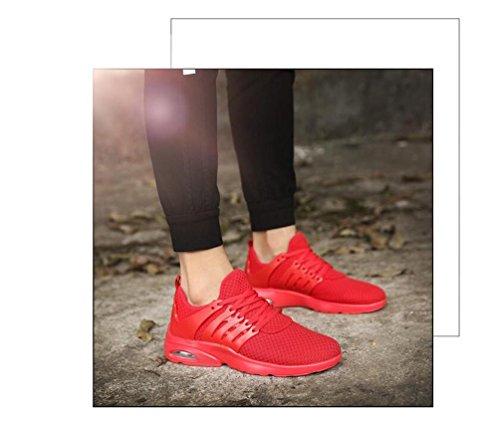 Mesh Lightweight Athletic Air Kissen Laufen Breathable Tennis Bequeme Basketball Lace-up Herrenschuhe EU Größe 39-44 Red