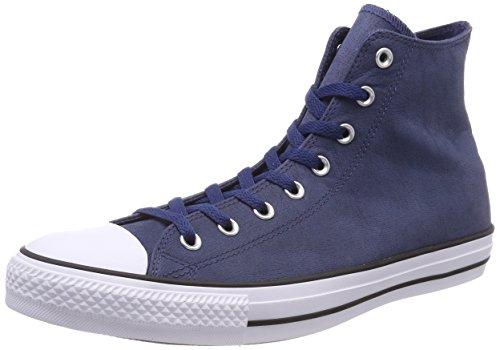 Converse Ctas Hi, Baskets Hautes Mixte Adulte, Schwarz (Black/Black/Black) Blau (Navy/Black/White)