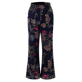 c5387b4c11c Image indisponible. Image non disponible pour la couleur   MCYs Pantalon  Femme Grande Taille Femme Pantalon Bouffant Large ...