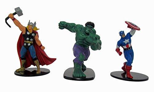 Marvel Avengers - Thor, Hulk et Captain America - Lot de 3 Deluxe 10,2 cm Figure Lot