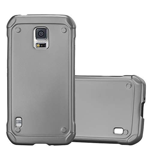 Cadorabo Hülle für Samsung Galaxy S5 Active - Hülle in METALLIC GRAU - Handyhülle aus TPU Silikon im Matt Metallic Design - Silikonhülle Schutzhülle Ultra Slim Soft Back Cover Case Bumper (Phone Cases Galaxy S5 Active)