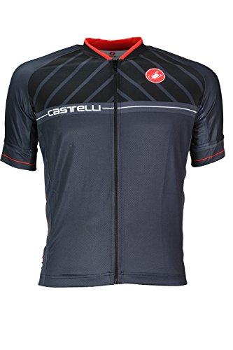 Castelli Sociedad Jersey FZ Camiseta, Hombre, Scotta Jersey Fz, negro, S