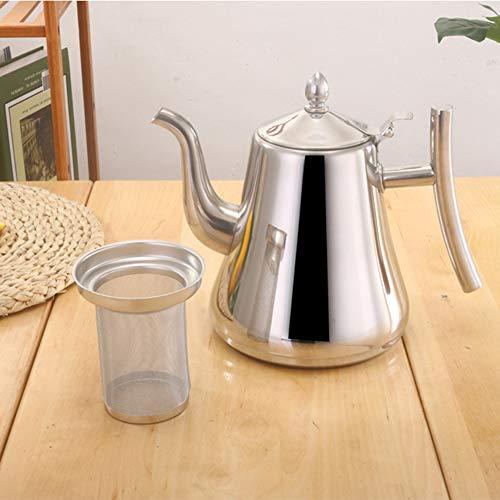 CFPacrobaticS 1.5 / 2L Edelstahl Teekanne Sieb Filter Teekanne Infuser Wasserkocher Kaffeekanne Silver 1.5l -