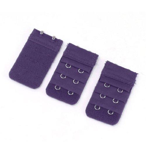 d5ffda9b3cfbb 3pcs Lady 3Row 2 Hook Adjustable Underwear Bra Strap Extension Buckle Hooks