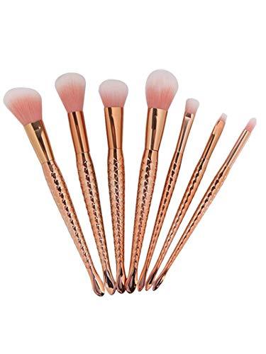 LEXUPE Pinceaux de Maquillage de 9PCS Kabuki Ont placé la Brosse de Visage de Fard à Joues de Base de Maquillage de Maquillage(Or,34)