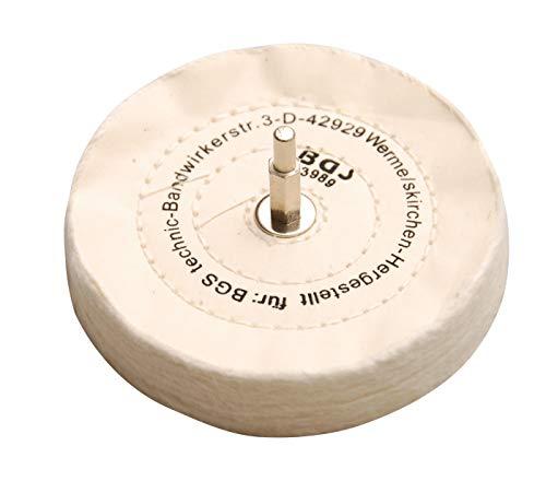 BGS 3989 | Polierscheibe mit Spanndorn | 6 mm | Ø 125 x 22 mm | Schwabbelscheibe