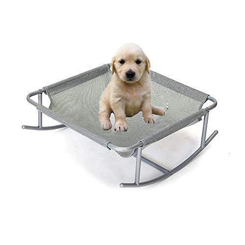 Um Schaukelstühle (UTOPIAY Kreatives Hundeliege, Erhöht Hundebett Komfortabel, tragbarer Camping-Hochbett-Campingkorb Schaukelstuhl im Freien mit stabilem Rahmen und Netz für Katze Hund oder anderes Tier)