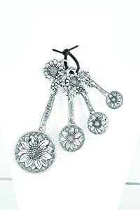 Ganz Sunflower Measuring Spoons (4pcs) - Measuring Spoons Flower