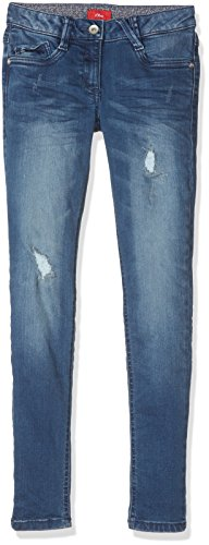 s.Oliver Junior Mädchen Jeans 76.899.71.3307, Blau (Blue Denim Stretch 56Z2), 152 (Herstellergröße: 152/SLIM)