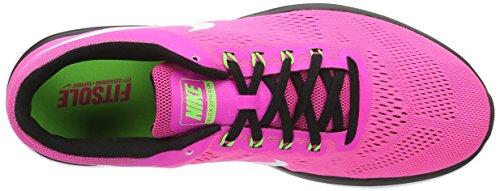 Nike Damen Flex 2016Rn Laufschuhe, UK Rosa (Pnk Blast / White-Blk-Elctrc Grn)