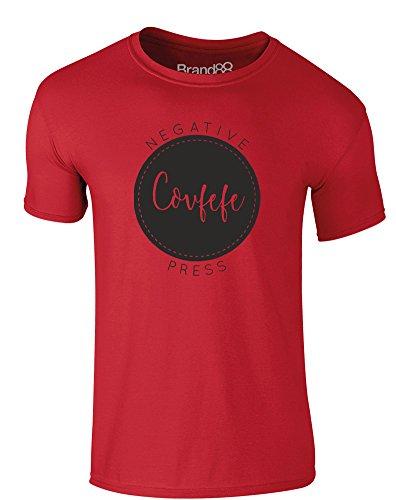 Brand88 - Covfefe, Erwachsene Gedrucktes T-Shirt Rote/Schwarz