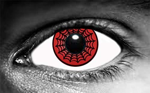 Farbige Kontaktlinsen, Spinnennetz