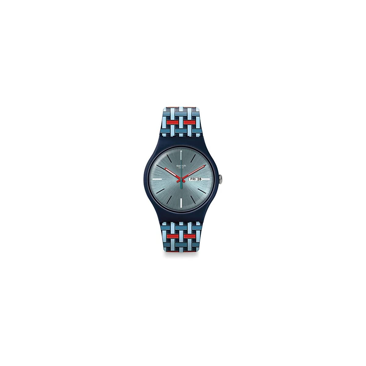 41AuDFEGMML. SS1200  - Swatch Reloj Analógico para Hombre de Cuarzo con Correa en Silicona SUON710