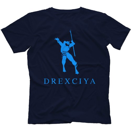 Drexciya T-Shirt Detroit Techno Electro Marineblau