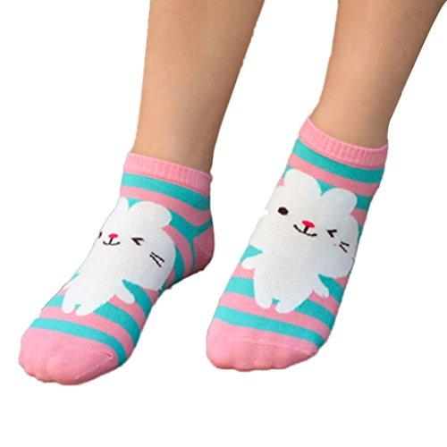 Transer Mädchen Socken mehrfarbig Multicolour A Einheitsgröße Gr. Einheitsgröße, Cartoon Animal C (Tights 10 Individual)