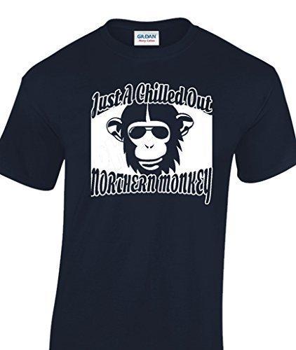 Just A Gekühlt Out Northern Monkey lustige Männer T-Shirt Schwarz