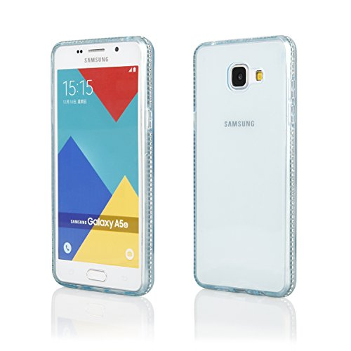EGO® TPU Case Cover Bling Rhinestone Case Silicone Case Diamond Case voor de Samsung Galaxy S7 Gold Transparent Luxe Glitter Matt Case Crystal Case Shiny Case Ultra Thin Case Strass Klar Blau