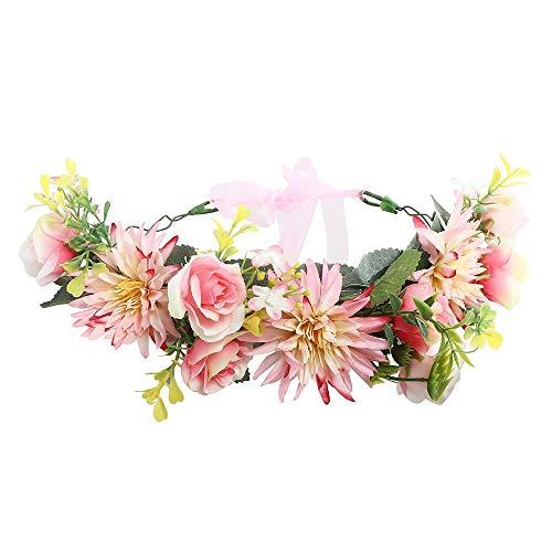 Fang-denghui, Frauen Mode Hochzeit Blumen Kranz Krone Stirnband Für Frauen Dame Mädchen Blumengirlanden Haarband Haarschmuck