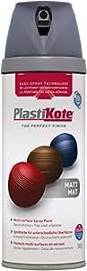 Plasti-kote Sprühfarbe Premium-Matt Grau 400ml