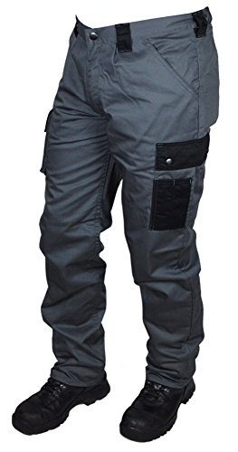 Preisvergleich Produktbild Arbeitshose MSM Workwear 302 - grau-schwarz - Handwerker - Hausmeister - Gartenbau (52)