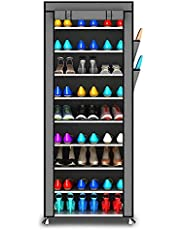 PAffy Steel Portable Multi Utility Shoe Rack, 9 Shelf, Multi-Color