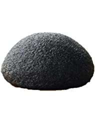 TOOGOO(R) Naturel Konjac Eponge de Visage Nettoyage de Visage - Noir