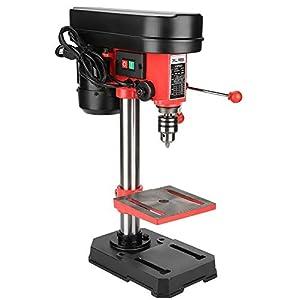 Micro Taladro de Banco Industrial 350W 5 Velocidades Mini Perforadora Eléctrica Soporte de Prensa Ajustable Banco de Trabajo Montado (Enchufe de la UE)