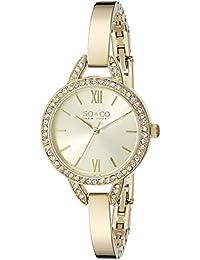 SO & CO New York 5088.3 - Reloj para mujeres, correa de acero inoxidable color dorado