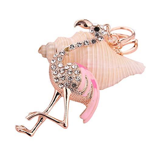 Billty Flamingo Schlüsselanhänger Handtasche Auto Handy Anhänger Dekoration Klein Souvenir Geburtstag Geschenk (Für Autos Dekoration Geburtstag)