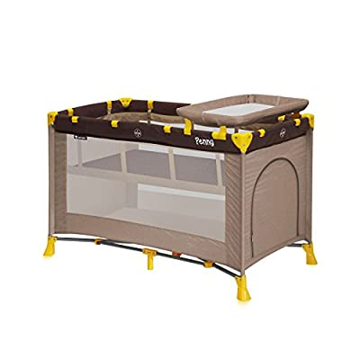 Lorelli cama paraguas plegable para bebé de 2niveles Penny 2Beige