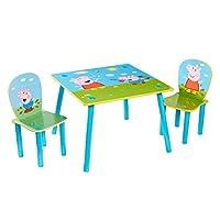 Peppa Pig Kids 2 Set, Table 43.5cm 63cm (D) Constructed Dimensions (approximate) Chairs 52.5cm (H) x 29.5cm (W) x 29cm (D)