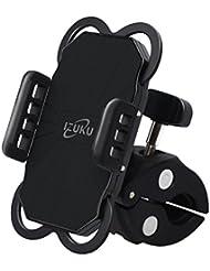 Soporte de Móvil Deportiva para Bicicletas y Motos Universal IZUKU de Ultra Estable, con una sujeción perfecta y 360 Rotación para todos los moviles smartes IPHONE5/SE 6 6P 7 7P SAMSUNG HUAWEI NEGRO