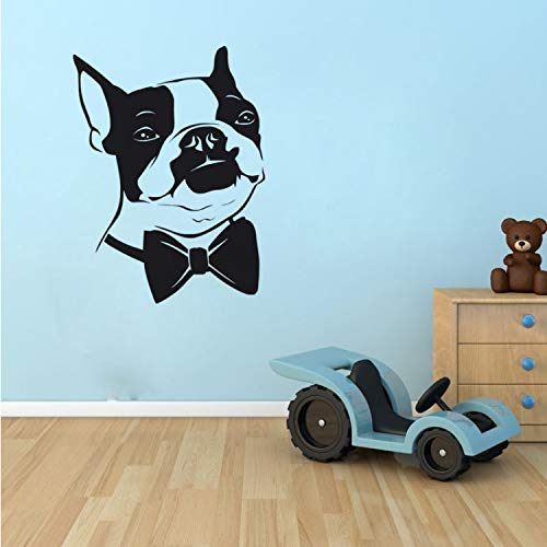 l Stickers Home Decor Living Room Bow Tie Boston Terrier Dog Wall Decals ()