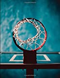 Basketball - Hoop On Blue Notebook: Cornell Notes Style Note-Taking Notebook