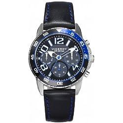 Kind-Uhr Viceroy 46615-54 Multifunktions-Leder-Silber