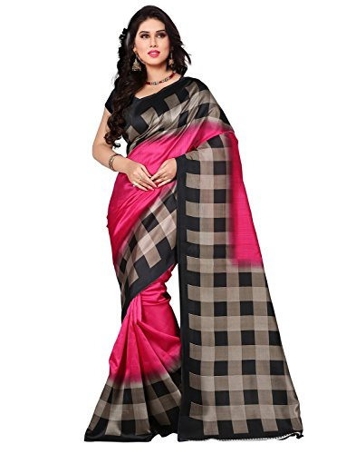 Jaanvi Fashion Art Silk Saree (Art-Silk-Pink_Pink)