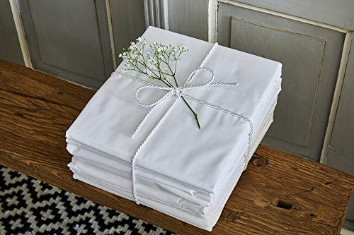 Sábana bajera ajustable de lino, 100% algodón orgánico extra profundo, color blanco, con bolsa de algodón, certificado GOTS, calidad de hotel, algodón, Blanco, matrimonio