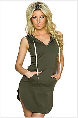 meinice coton robe Sweat à capuche pour homme - vert - L