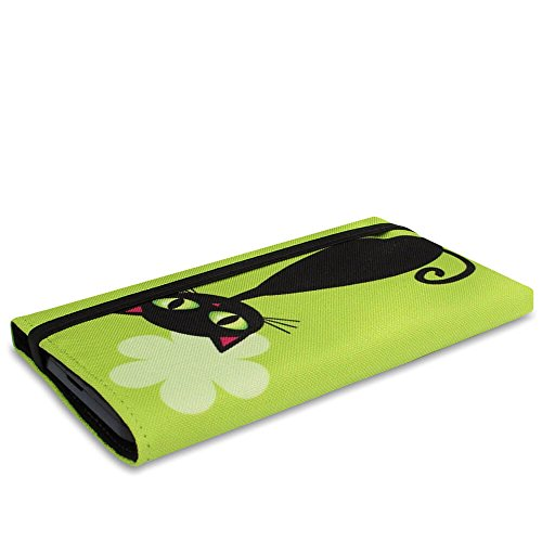 Stilbag Etui 'MIKA' pour Apple iPhone 7 plus - Dessin: Velvet Night Chats noirs