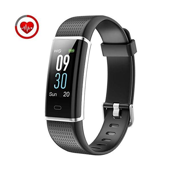 YAMAY Pulsera de Actividad Inteligente con Pulsómetro, Impermeable IP68 Smartwatch con 14 Moda Deportiva, Podómetro Pulsera Inteligente para Mujer Hombre Niño Reloj Inteligente Android y iOS Teléfono 1