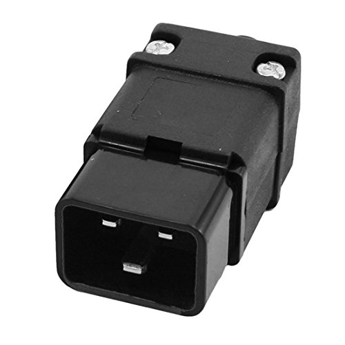 SODIAL(R) 2 in 1 16A 250VAC IEC320 Serie C19 Stecker C20 Steckdose fuer Netzkabel