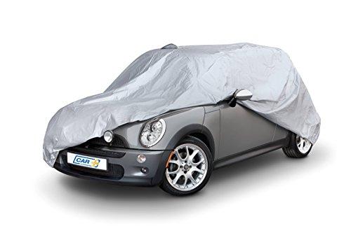 Funda exterior premium para Mini COOPER, impermeable, doble capa sintética y de finas trazas de algodón por el interior, transpirable para evitar la condensación en el parabrisas.