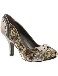 Ruby Shoo Ladies June Stone and Mint Patent Bow Pump Vegan Friendly Shoes-UK 8 (EU 41)