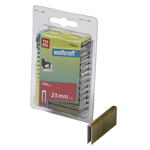 Wolfcraft 7169000 Agrafes étroites résine Type 055 23 mm Lot de 1200