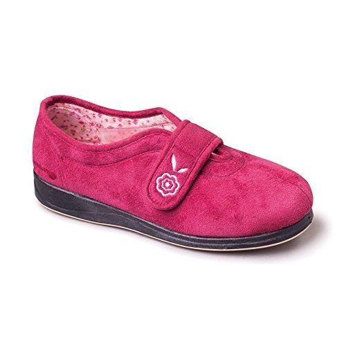 scarpe da donna Padders 'Camilla' | Extra grande larghezza di EE | 20 millimetri tallone | calzascarpe libero Raspa / Cerise