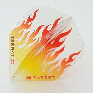 3 x SETS TARGET VISION GOLD WHITE FLAMES DARTS FLIGHTS