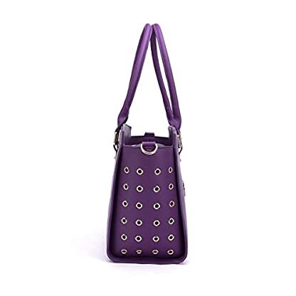 YiHao Dog Carriers Airline Approve Portable Convenient Lightweight Outdoor Travel Pet Carrier Handbag 8009 (Purple) 2