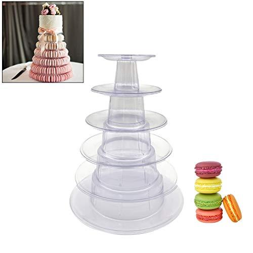 Ysoom Macaron Ständer, Cupcake Ständer, Kuchenständer 6-Stufig Acryl Halten sie Cupcakes Desserts für Nachmittagstee Party Baby Duschen Hochzeiten (Baby-dusche Bar Für Candy)